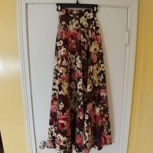 NWT Agnes & Dora Fall Floral Ball Skirt Maxi XS